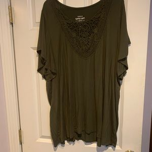 Army green torrid blouse 4x